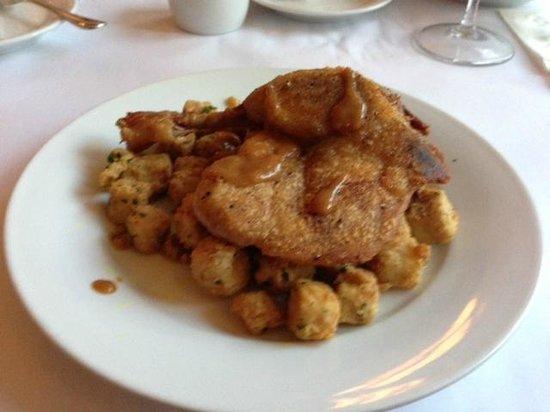"Bistro Poplar : Duck confit w curried eggplant ""fries"""
