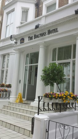 Best Western Boltons Hotel London Kensington : The entrance