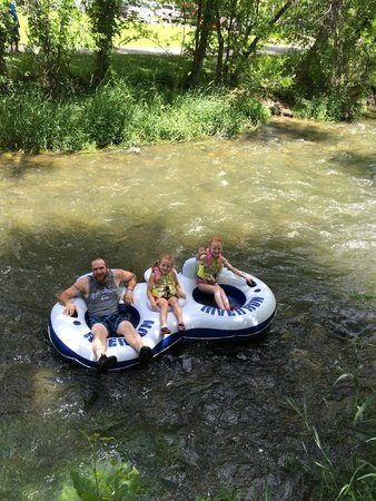 Aura Soma Lava: tubing the river!