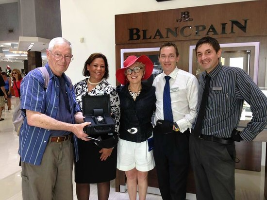 Diamonds International: Congratulations to Mr./Mrs.Seaman from Pacifica California with their Blancpain's Fifty Fathoms.
