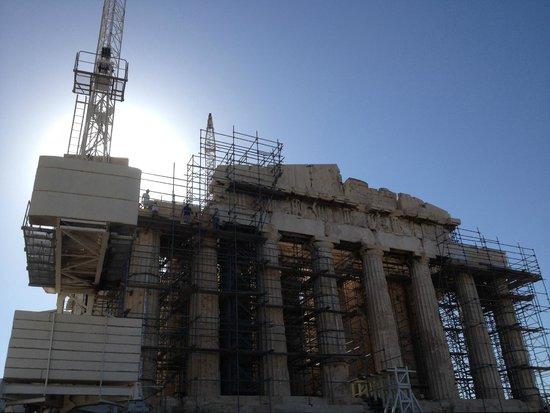 Acropolis: Reconstruction work in progress