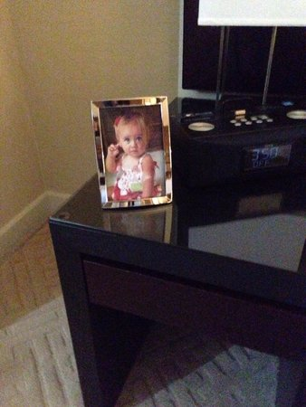 Trump SoHo New York: Our attaché, Michelle, arranged for this pic of our daughter to be in our room. Was my wife's fi