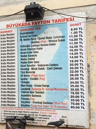 Buyukada Hesed Leavraam Synagogue: prices for horse cart
