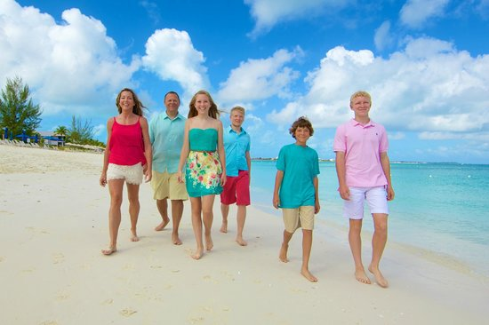 The Venetian on Grace Bay: Family pic from our photo shoot with EyeSpice (highly recommended)