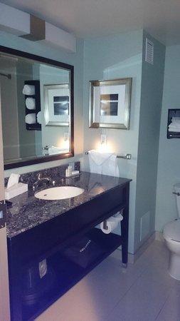 Hampton Inn & Suites by Hilton St. John's Airport: the bathroom