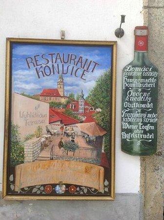 Restaurant Konvice: Вывеска ресторана! Не проходите мимо!
