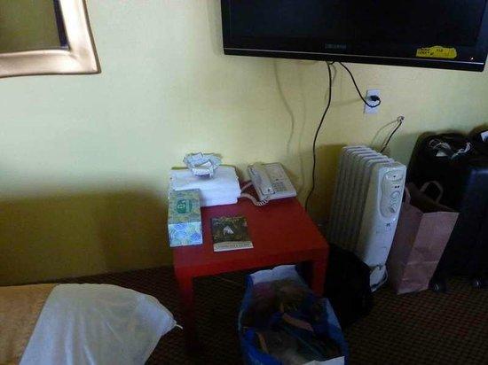 9 Palms Inn: Heizung und TV