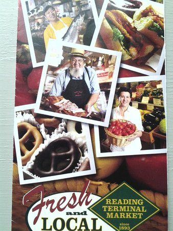 Reading Terminal Market : front of brochure for market