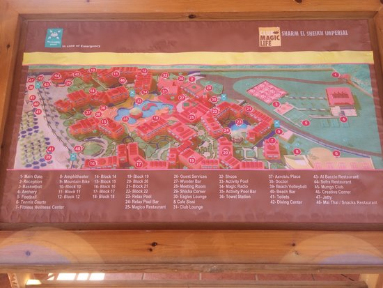 CML Resort Map - Picture of TUI Magic Life Sharm el Sheikh, Sharm El ...
