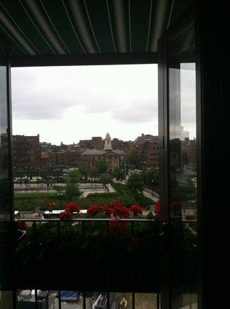 The Bostonian Boston: View from Room 614 (farmer market below room)