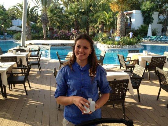 Magnific Hotel: Saliha Koleoglu - pleasant, hard working staff member