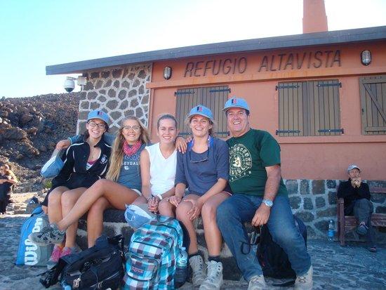 Refugio de Altavista: Vista del refugio