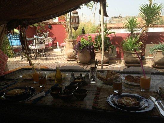 Riad Tamarrakecht: Déjeuner