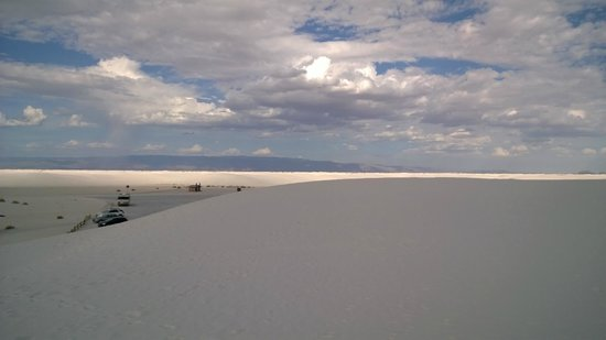 White Sands National Monument: View from the top of the dunes.