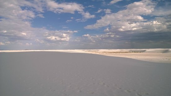 White Sands National Monument : View from the top of the dunes.