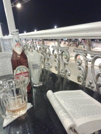 Ajantha Sea View : Beer on the balcony