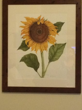 The Charlotte Hotel & Restaurant: Loved this piece of art in Room 21!!