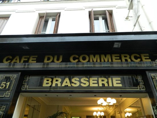 Le Cafe du Commerce: From outside of the brasserie