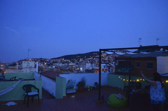 Barcelona Nice Cozy The Roof Top Terrace At Night