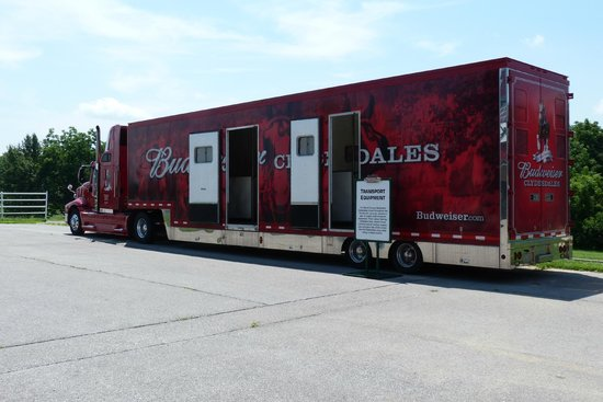 Warm Springs Ranch: View of one of the 3 trailers the clydesdales travel in