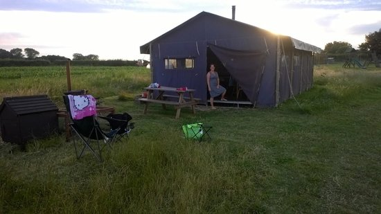 Feather Down Farms at College Farm: Our tent