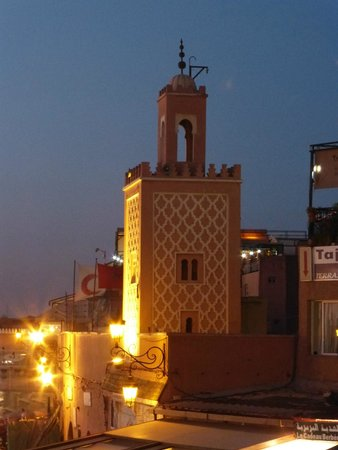 Riad Houma : View from a restaurant of Djemaa el-Fna