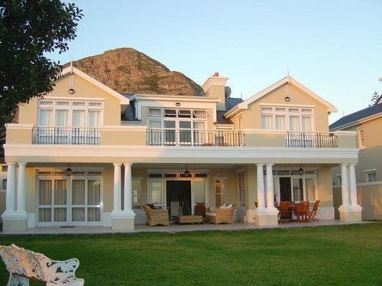 Sandals Beach Villa : With the mountain in the back ground overlooking the ocean.