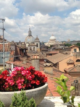 Genio Hotel: view from roof terrace
