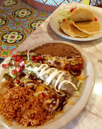 Chuy's: Combo platter came with two plates of food!
