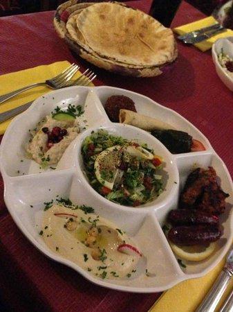 Mezze Palace Lebanese Restaurant: Mezze starter as part of the £11.99 set menu
