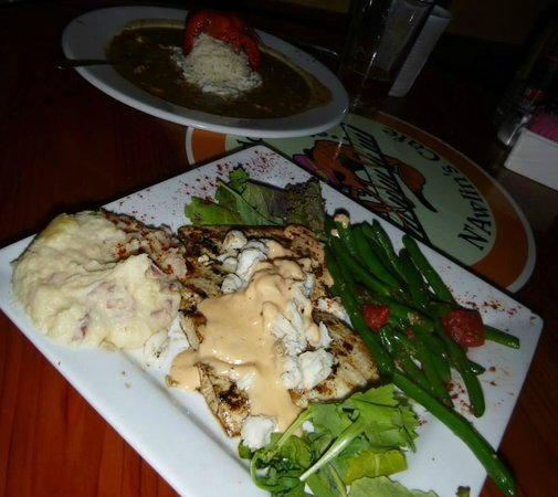 Crawdaddy's: Dinner Special: Mahi Villand (topped with lump crab meat)