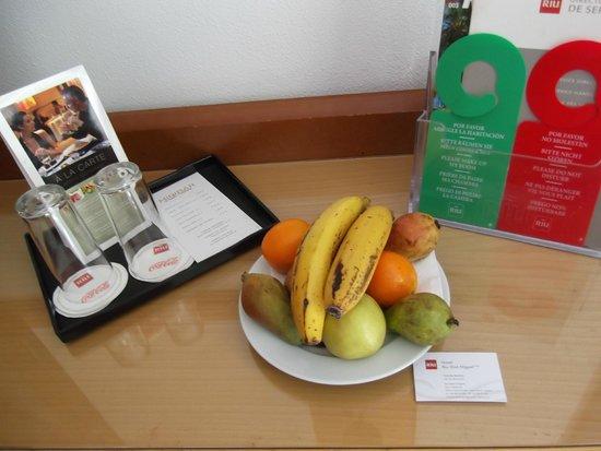 Hotel Riu Don Miguel: Obsequio del hotel