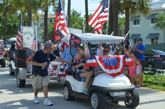 Beachside Village Resort: The BVR staff in the 4th of July parade.