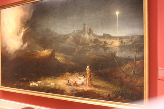 "Chrysler Museum of Art: ""The Angel Appearing to the Shepherds"" Thomas Cole"