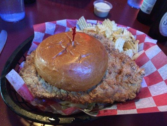 Maggie's Bar & Grill: Pork Tenderloin Sandwich