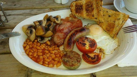 Full Cornish breakfast at Roseland cafe