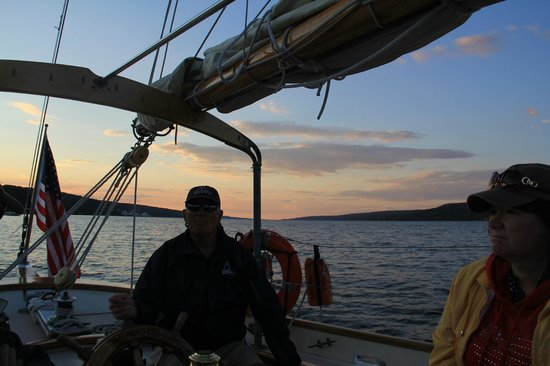 Schooner Excursions, Inc: Sun is going down