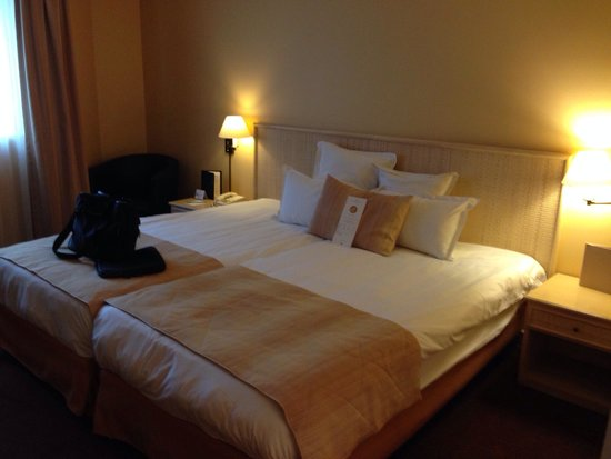 Hotel Auteuil Tour Eiffel: Double beds, close to each other