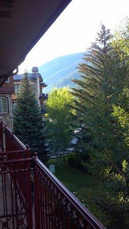 Tivoli Lodge: View from a third floor balcony