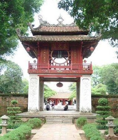 Temple de la Littérature de Hanoï : Khue Van Cac (constellation of literature pavilion)