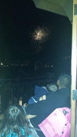 The Sebastian - Vail: Fireworks from the balcony