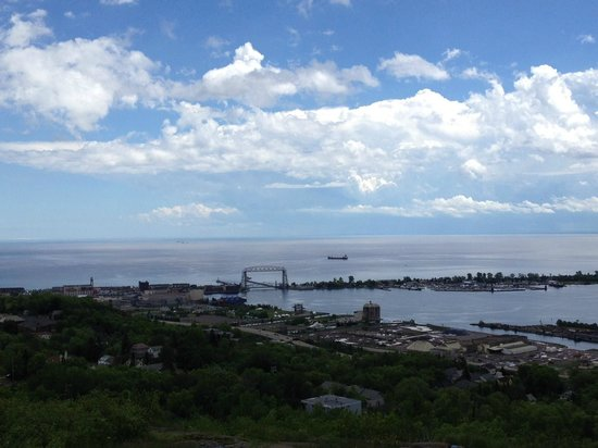 Enger Park and Tower: Looking Down on Duluth and the Lake