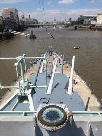 HMS Belfast: guns had a 14 mile range