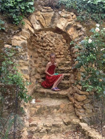 Les Trois Jardins : Garden entrance