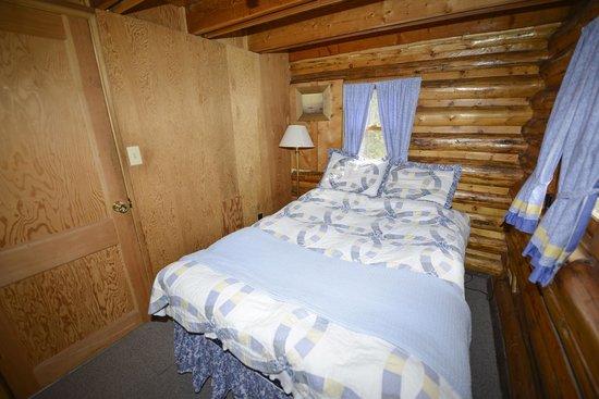 Shadowcliff Lodge: Riverbend Cabin lower bedroom