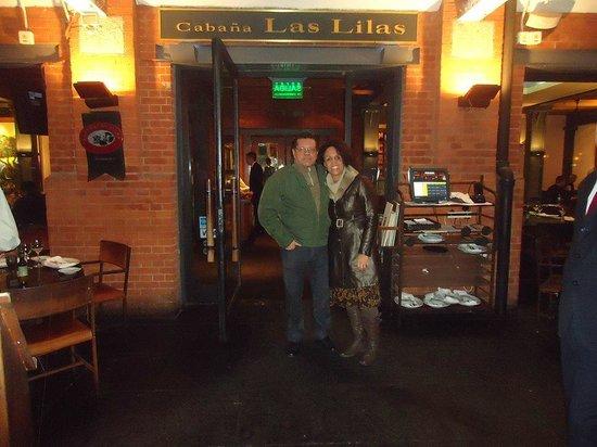 Cabaña Las Lilas: Jantar memorável.