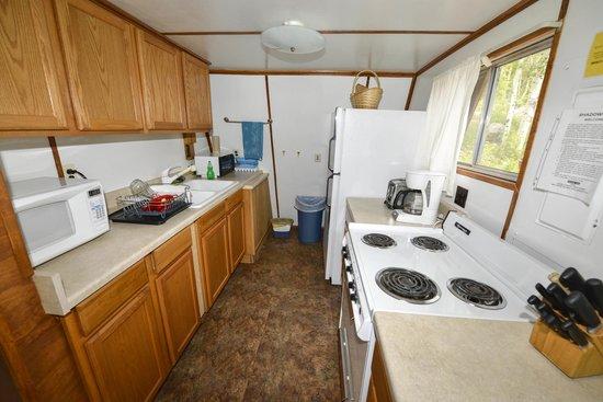 Shadowcliff Lodge: Overlook Cabin Full Kitchen