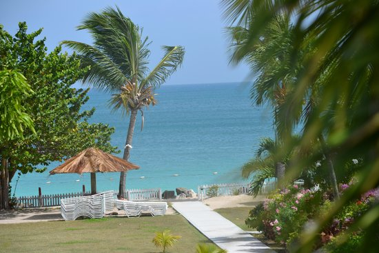 Antigua Village: Sea view from gardenside
