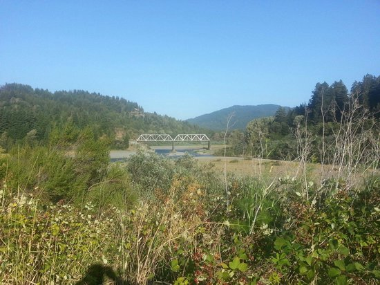 Avenue of the Giants: All that is left of Dyerville, a train trestle.