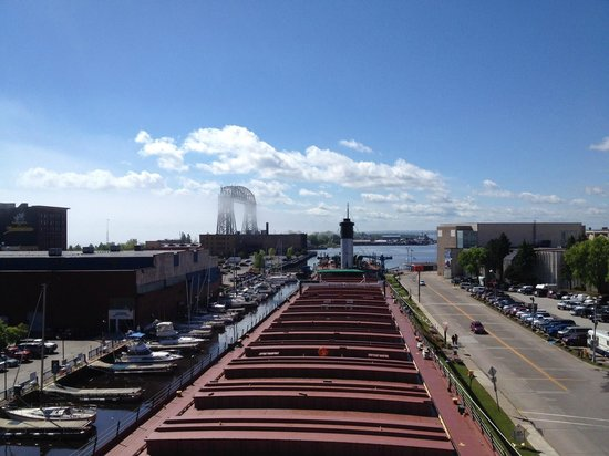 S.S. William A. Irvin Ore Boat Museum: Great View from the Bridge of the Irvin!